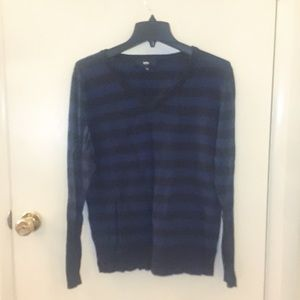 Mossimo V-Neck Navy and Black Sweater